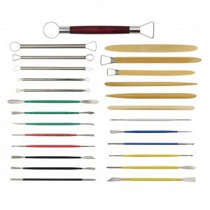 Dopobo Kits Outils à main pour Poterie Céramique Modelage Sculpture Gravure Argile Ciseaux Couteau avec Etui (26pièces) guide