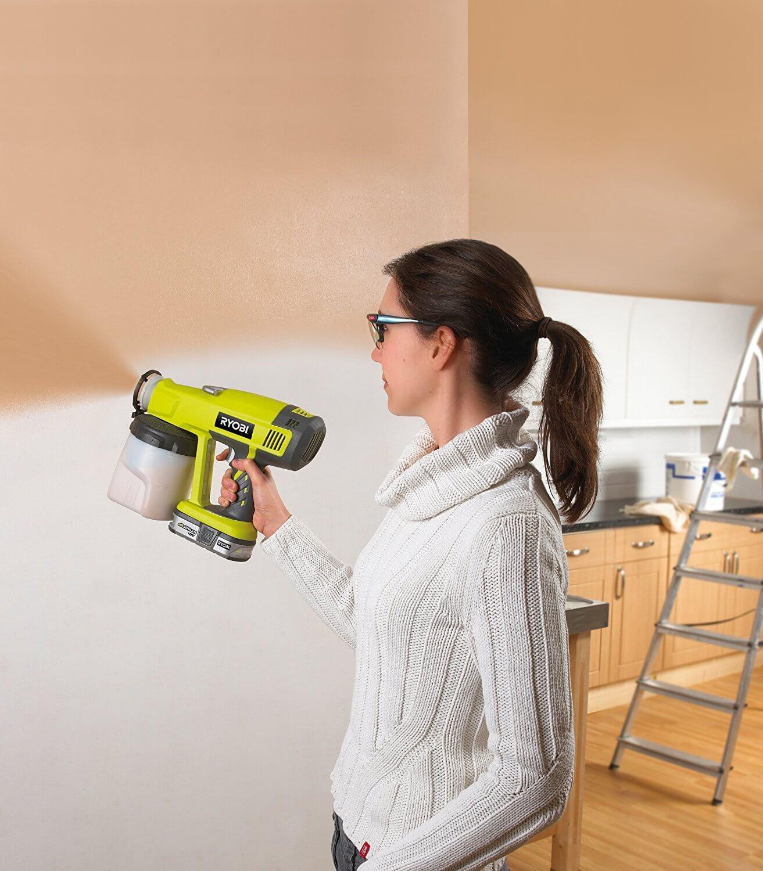 avis pistolet peinture sans fil ryobi p620 one plus pulv risateur 18v outils et bricolage. Black Bedroom Furniture Sets. Home Design Ideas