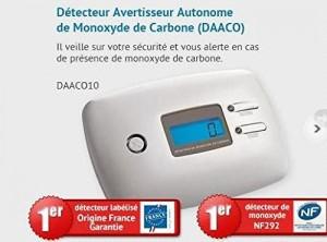 SHD DAACO 10 Détecteur de monoxyde de carbone NF 292 pas cher