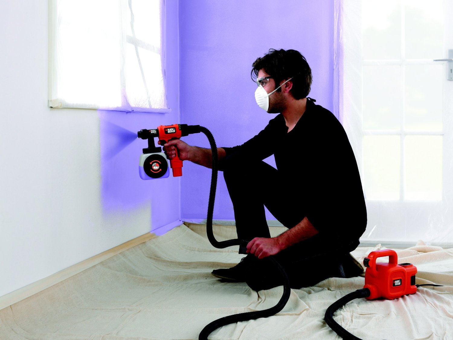 avis test pistolet peinture black decker hvlp400 outils et bricolage. Black Bedroom Furniture Sets. Home Design Ideas