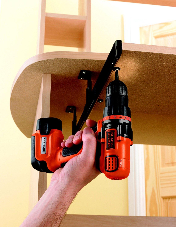 black decker egbl108kb qw perceuse sans fil pas cher. Black Bedroom Furniture Sets. Home Design Ideas