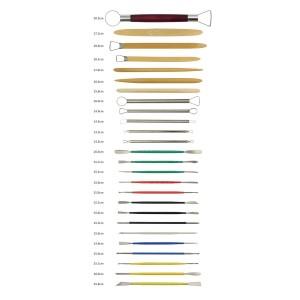 Dopobo Kits Outils à main pour Poterie Céramique Modelage Sculpture Gravure Argile Ciseaux Couteau avec Etui (26pièces) avis