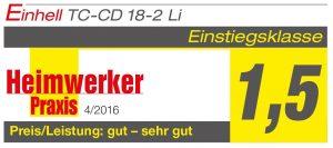 Avis Perceuse visseuse sans fil Einhell TC-CD 18-2 Li 7