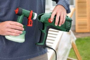 Bosch Pistolet de peinture pour bois et lasures Easy PFS 55 2