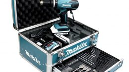 Makita HP457DWEX4 Perceuse visseuse à percussion en mallette en Alu avec 2 batteries